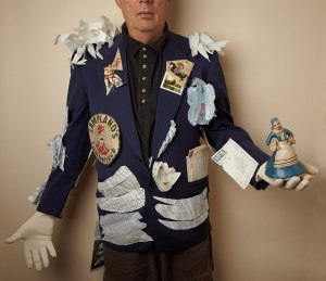 Blue Serge Jacket, Steve Clorfeine, subject and fabricator, Christine Alicino photographer, 2014, 8%22 x 10%22