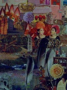 Birgitte Bush, 'Alone' postcard, letter, handmade paper, 20x30 in.