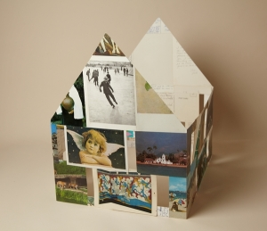 House of Cards, Christoph Zihlmann (Switzerland), 2014, postcards, 12%22 w. x 16%22 h. x 15 %22 l
